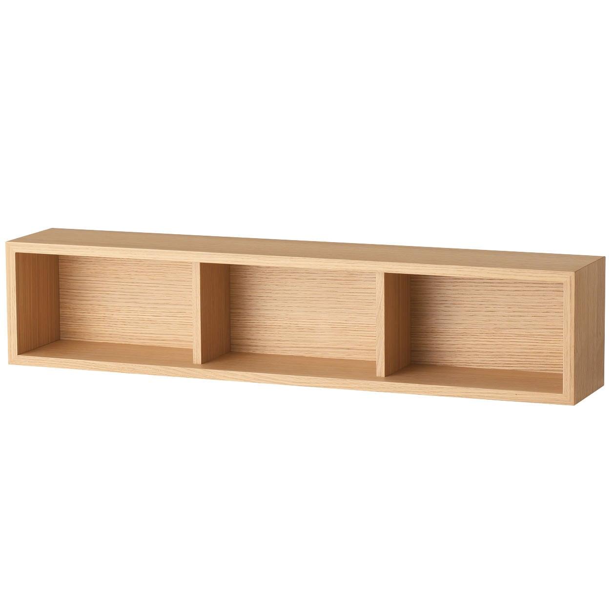 壁に付けられる家具・箱・幅88cm・オーク材 幅88×奥行15.5×高さ19cm