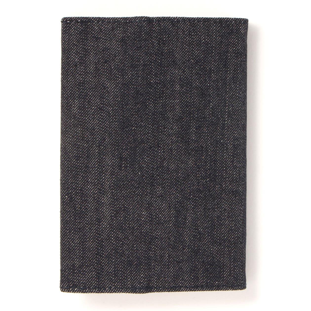 デニム文庫本カバー 約高さ16.3×幅最長29.5cm