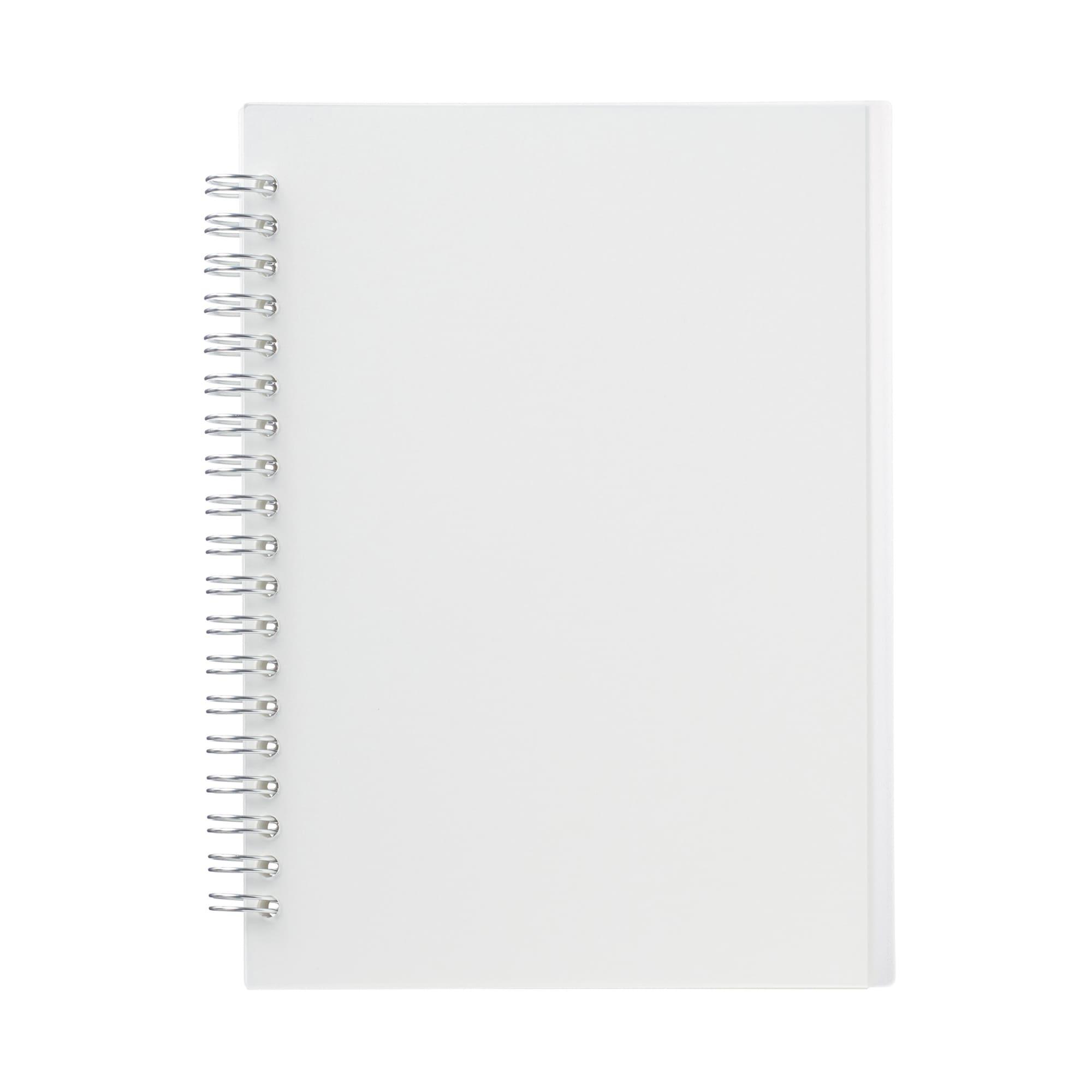 ポリプロピレンカバーダブルリングノート・ドット方眼 本文A5サイズ・白・90枚