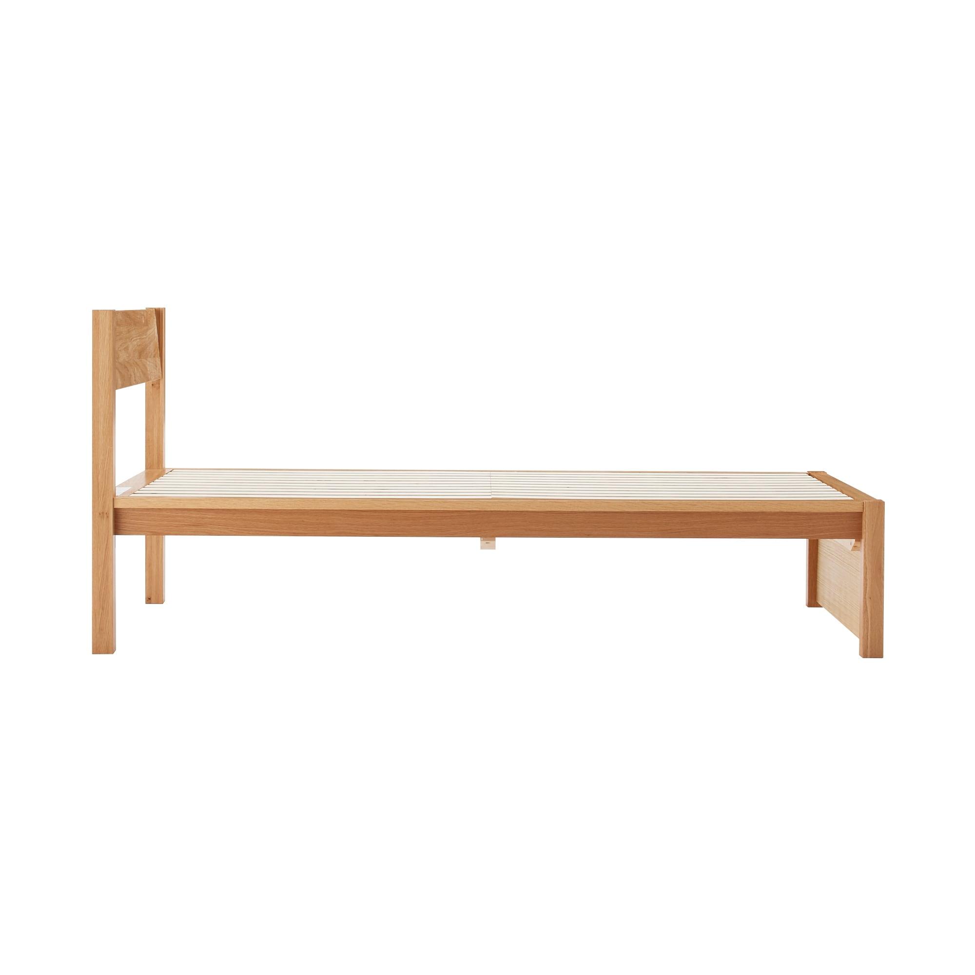 木製ベッド・オーク材・シングル 幅101×奥行203×高さ88cm