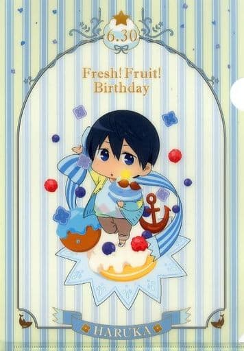 七瀬遙 Fresh! Fruit! Birthday A4クリアファイル 「Free! -Eternal Summer-」