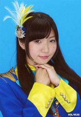 Wake Up Girls!/永野愛理/バストアップ・衣装青・黄色・両手あご・背景青/Wake Up Girls! Bromide Collection -vol.2-