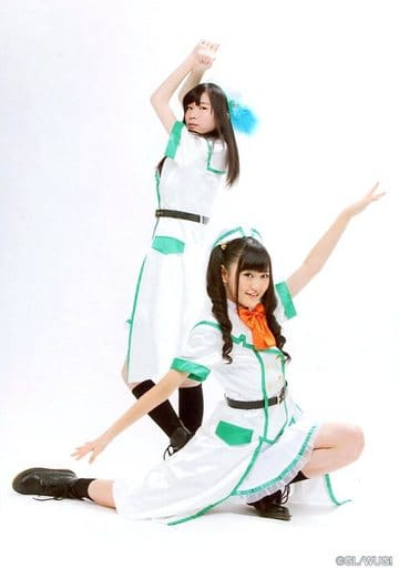 Wake Up Girls!/青山吉能・高木美佑/全身・衣装白・緑・高木しゃがみ/Bromide Collection - Vol.2.5-